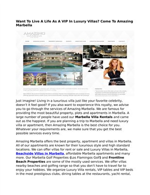 Amazing Marbella