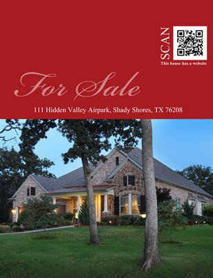 111 S Hidden Valley Airpark, Shady Shores, 76208
