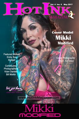 HOT INK MAGAZINE COVER POSTER - Cover Girl Mikki Modified - May 2017