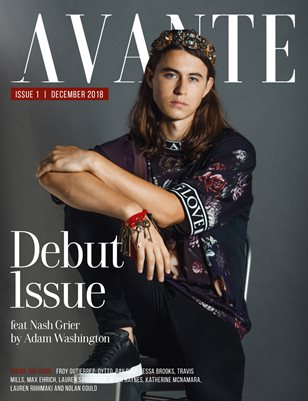 Avante Debut Issue: Nash Grier Cover
