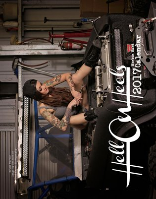 Hell on Heels Magazine 2017 Workin Hard Calendar