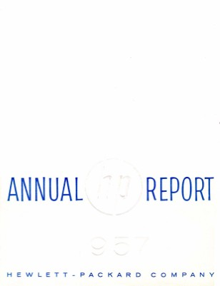 HP Annual Report 1957