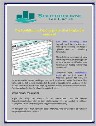 The SouthBourne Tax Group: Klar til at indgive din 2016 skat?