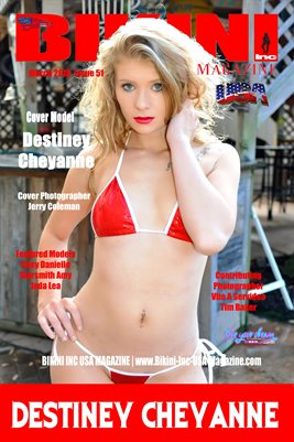 BIKINI INC USA MAGAZINE COVER POSTER - Cover Model Destiney Cheyanne - April 2018