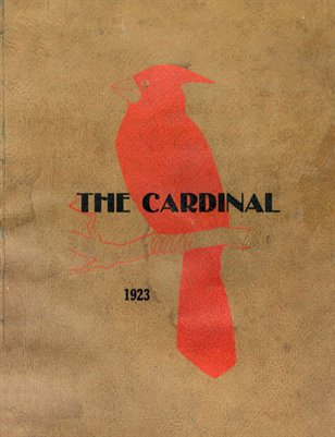 "1923 ""The Cardinal"" Mayfield High School Yearbook, Mayfield, Graves County, Kentucky"