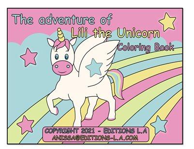 Unicorn Children Coloring Book - The Adventure of Lili the Unicorn