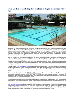 Wild Orchid Resort Angeles: A place to begin memories full of fun