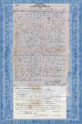 1910 MOFFIT TO JOYNER DEED, HARDIN COUNTY, TENNESSEE