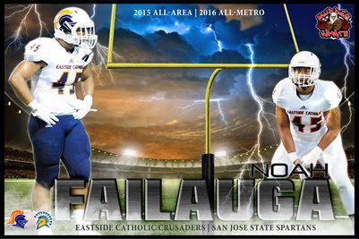 NOAH FAILAUGA FOOTBALL POSTER V3