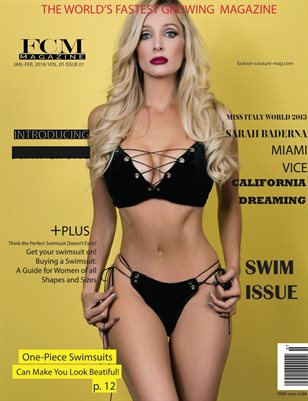"Fashion Couture Magazine "" Swim Issue"" Vol. 1 No. 1"