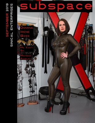subspace Magazine September 2019 Issue - Domina Irene Boss cover