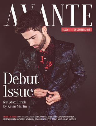 Avante Debut Issue: Max Ehrich Cover