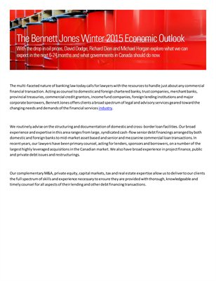 Bennett Jones Industries - Banks and Financial Institutions
