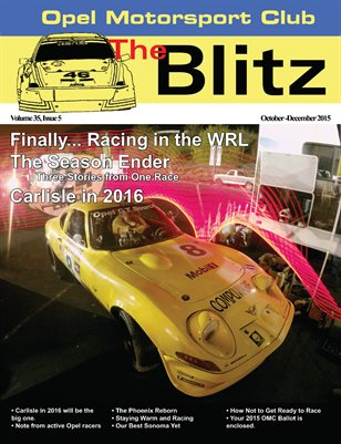 The Blitz, October-December 2015