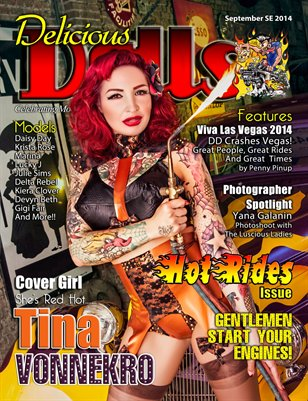 Delicious Dolls September Hot Rides Issue - Tina Vonnekro Cover