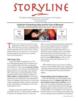 Spring 2011 Storyline Newsletter of the Storytelling Association of California