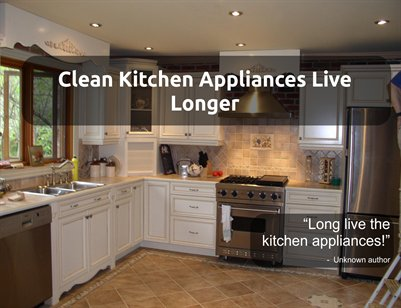 Clean Kitchen Appliances Live Longer Magcloud