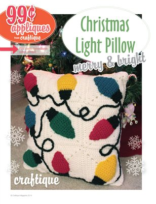 Craftique Crochet - Christmas Bulb Applique Pillow