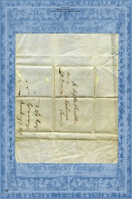 1852 Letter to Dr. Jeptha Fowlkes in Nashville, Tennessee from R.B.J. Twyman of Paducah, Kentucky