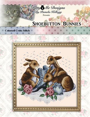 Shoebutton Bunnies Cross Stitch Pattern
