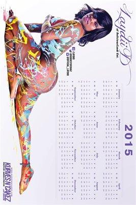 Kurves N Cakez 2015 Laydii D Calendar