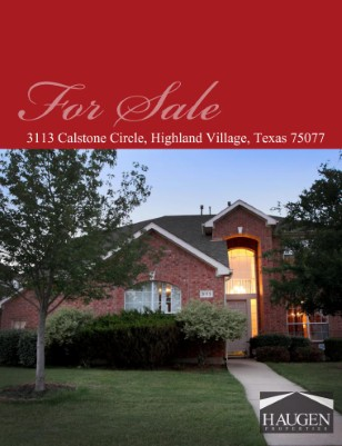 Haugen Properties - 3113 Calstone Circle, Highland Village, Texas 75077