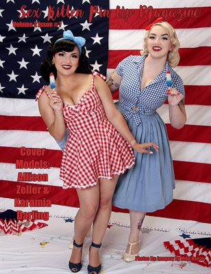 Sex Kitten Pin Up Magazine Allison Zeller & Karamia Darling Cover July 2019 Issue