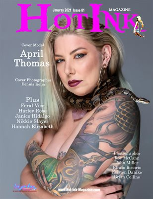 HOT INK MAGAZINE - Cover Model April Thomas - January 2021