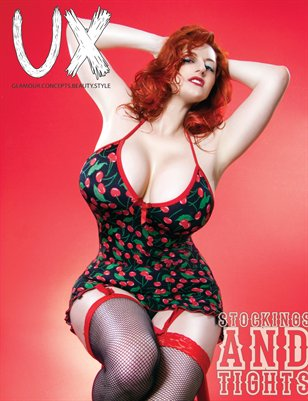 UX Magazine Issue 8 (The Stockings and Tights Issue) Cover 3 The Monthly Coffee Table Book For The Glamour Enthusiast
