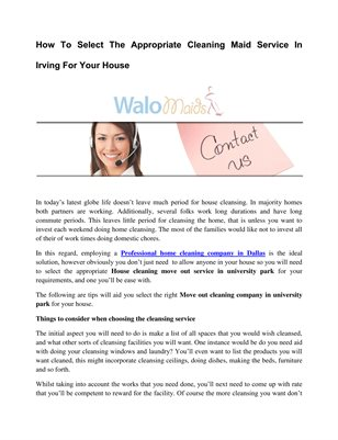 Home Maid Service in Richardson