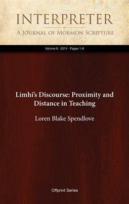 Limhi's Discourse: Proximity and Distance in Teaching