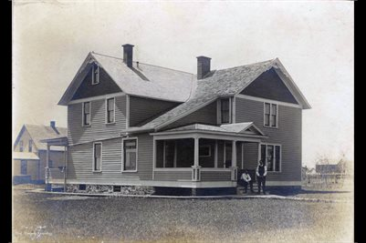 C.M. ZIMMERMAN'S HOME IN ASHLEY, NORTH DAKOTA