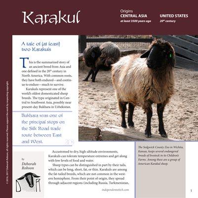 Deborah Robson's Guide to Fiber: Karakul