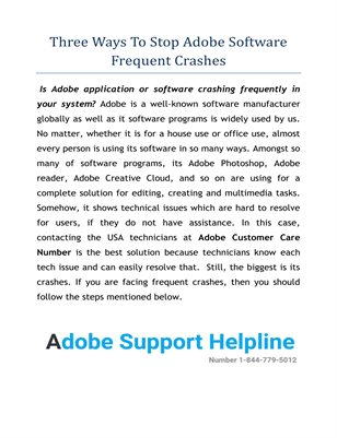 Adobe Support Phone Number