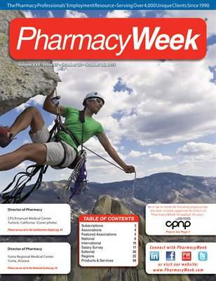 Pharmacy Week, Volume XXII - Issue 37 - October 20 - October 26, 2013