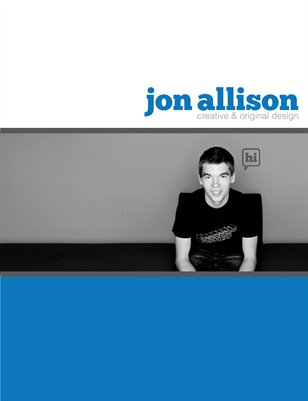 Jon Allison: creative & original design