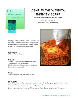 Light in the Window Infinity Scarf