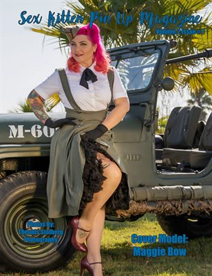 Sex Kitten Pin Up Magazine Maggie Bow Cover July 2019 Issue