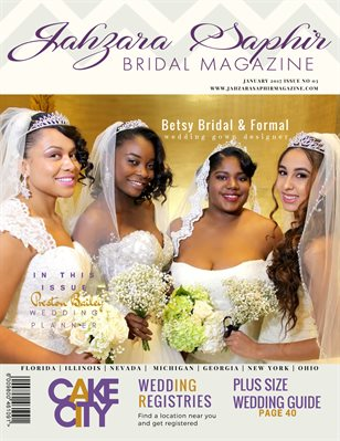 Jahzara Saphir Bridal Magazine Jan. 2017 Issue