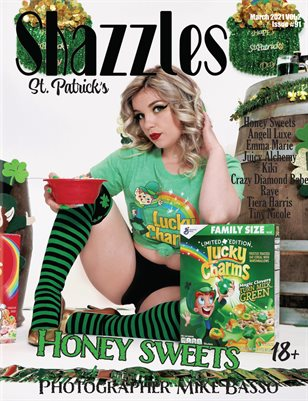 Shazzles St Patrick's Day ISSUE #91 VOL 2. Cover Model Honey Sweets.