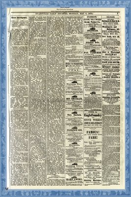 (PAGES 7-8) May 4, 1874 Evansville Daily Journal, Evansville, Indiana