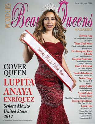 World Class Beauty Queens Magazine Issue 104 with Lupita Anaya Enríquez