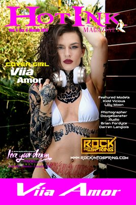 HOT INK MAGAZINE COVER POSTER - Cover Girl Viia Amor - March 2017