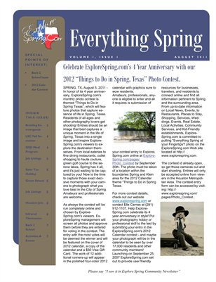 Everything Spring Newsletter