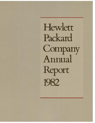 HP Annual Report 1982