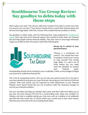 Southbourne Tax Group Review: Say goodbye to debts today with these steps