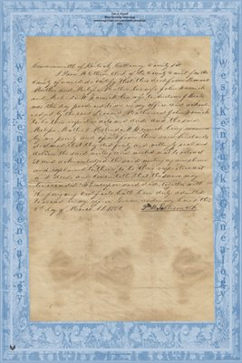 1850 Deed, Mathis & Warnick to Beale, Calloway County, Kentucky