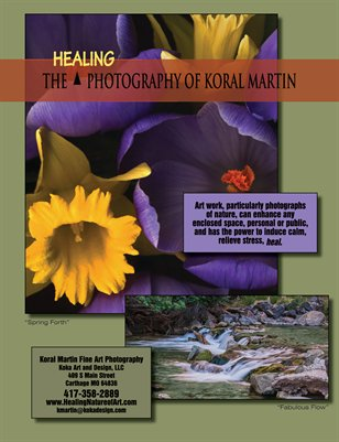 Koral Martin Healing Nature Art Pamphlet July 2015
