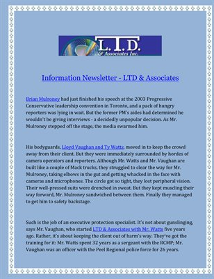 Information Newsletter - LTD & Associates