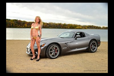 Model Shawna Roberts with a Viper